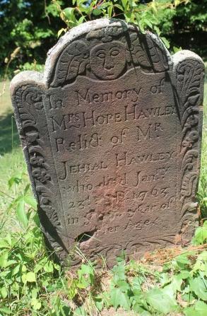Hope Stow Hawley gravestone